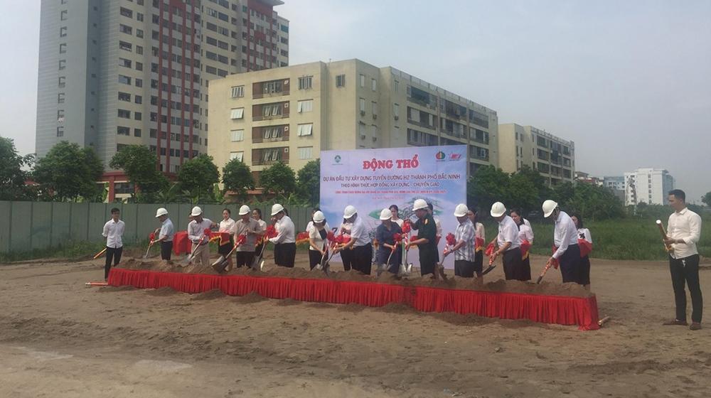 Bắc Ninh: động thổ xây dựng tuyến đường H2 theo hình thức BT