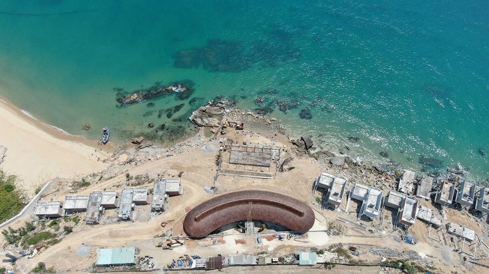 Hàng loạt dự án ven biển Quy Nhơn thi công sai so với thiết kế