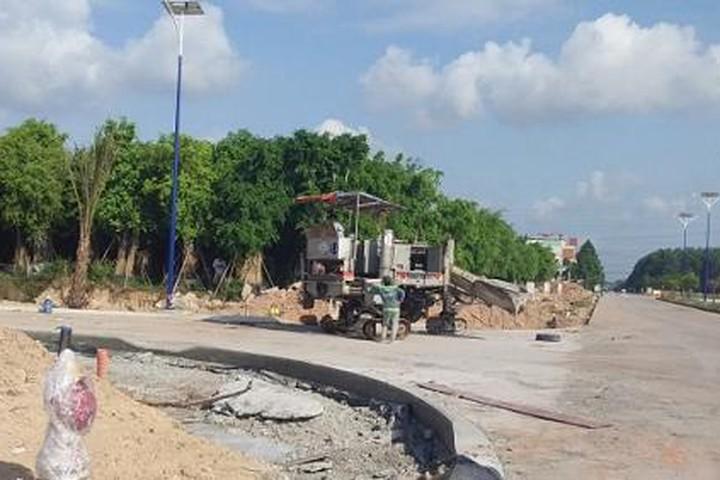 Xây dựng không phép, chủ đầu tư dự án Khu dân cư Đại Nam bị xử phạt