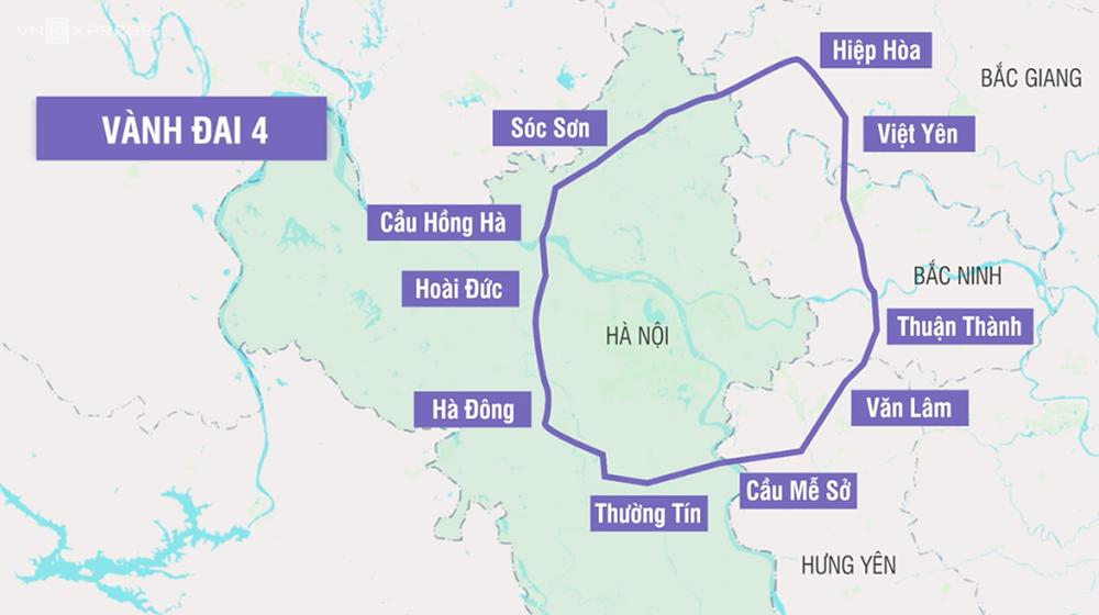 Hà Nội phê duyệt quy hoạch đường Vành đai 4 như đường Vành đai 3