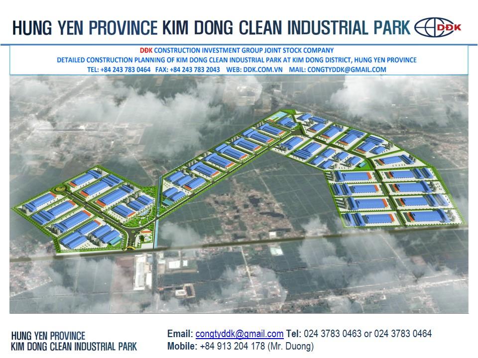 Hưng Yên: Duyệt quy hoạch Khu công nghiệp Kim Động gần 100ha