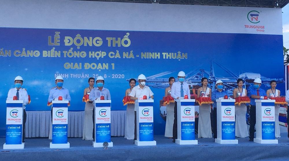 Động thổ Dự án Cảng biển tổng hợp Cà Ná tại Ninh Thuận
