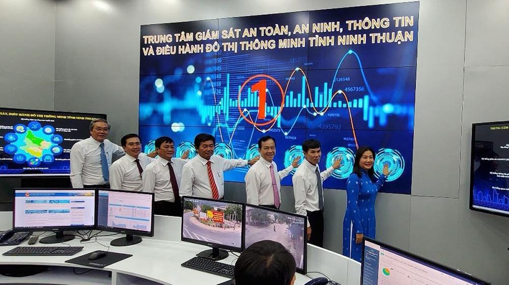 Ninh Thuận: Nhấn nút khai trương và vận hành Trung tâm giám sát, điều hành đô thị thông minh