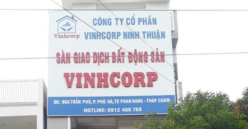 """Vinhcorp Ninh Thuận bị """"tuýt còi"""" vì phân lô bán nền trái phép"""