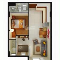 Cho thuê căn hộ 2 mặt tiền, 2PN (1 + 1), 49m2, lầu 8