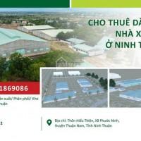 Cho thuê nhà xưởng tại Ninh Thuận