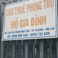 Cho thuê phòng trọ tại Plei Ku, Gia Lai